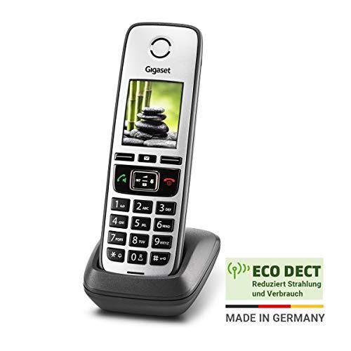 Gigaset Family IP-Telefon - Schnurloses Telefon zur Anbindung an alle gängigen Router - großes Farbdisplay, anthrazit-grau