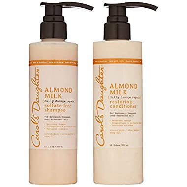Carol's Daughter Almond Milk Daily Damage Repair Sulfate Free Shampoo and Conditioner Set for Damaged Hair, Shampoo and…