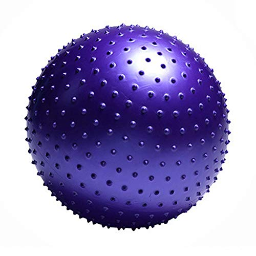 YOGATUTU Exercise Ball (Multiple Colours), Anti-Burst & Extra Thick, Swiss Ball with Quick Pump, Birthing Ball for Yoga, Pilates, Fitness, Pregnancy & Labour,purple,75cm