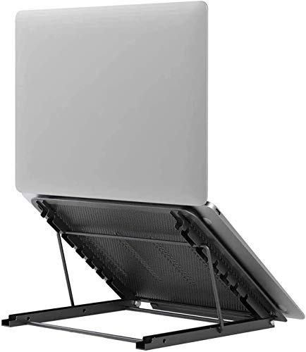 Soporte Portátil Plegable, Soporte para Computadora Netbooks de Ventilado, Soporte para Laptop Adjustable de Múltiples Ángulos,para Laptops/Teléfonos Móviles/Tabletas