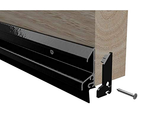Stormguard XRD Door Rain Deflector Seal Water Weather Bar Drip Board UPVC Timber 914mm (Black)
