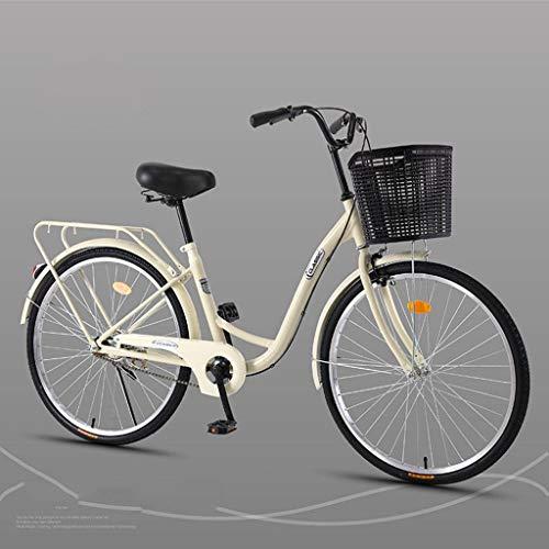 Bove 26 Inch Dame Citybike Leicht Und Stabil Citybike Erwachsener Erwachsener Fahrrad Unisex-Single-Speed-G