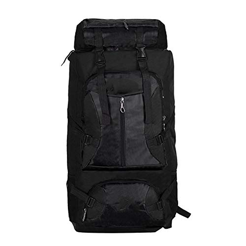 90L Outdoor Camping Tourism Mountaineering Fishing Waterproof Sports Backpack (black)