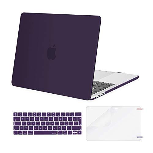 MOSISO Custodia MacBook PRO 13 Pollici 2019-2016 Case A2159/A1989/A1706/A1708&Stesso Colore Tastiera Cover&Proteggi Schermo Compatibile con MacBook PRO 13 con/Senza Touch Bar, Viola Lavanda