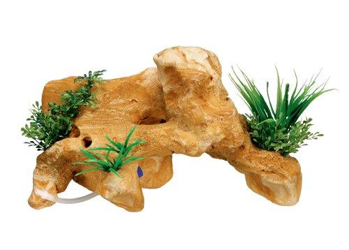 Nobby Rocher de Lave avec Plantes Décoration pour Aquarium 28,8 x 13,5 x 17 cm