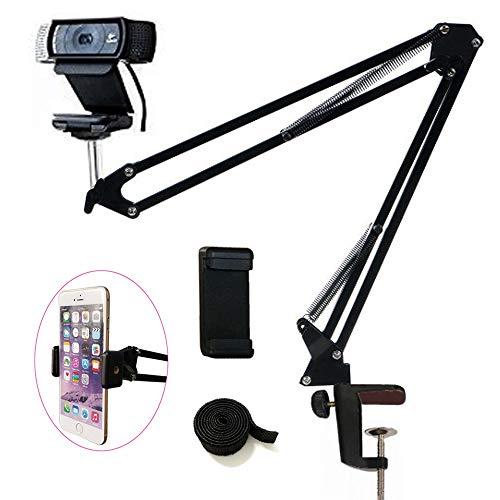 Tencro Webcam Halterung für Handys, Logitech Webcam C920, C930, C922, C615 und andere Geräte mit 1/4 Zoll (0,6 cm) Gewinde