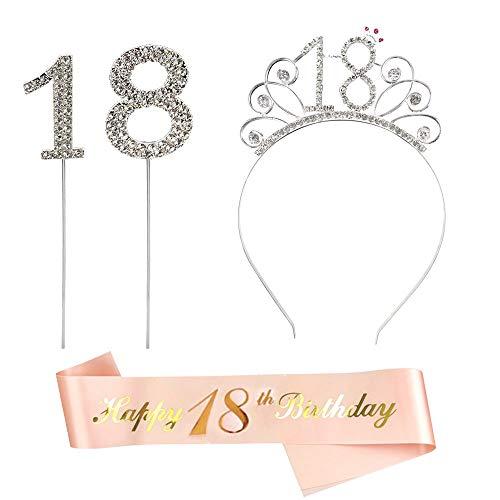 Gativs Corona 18 Cumpleaños Corona 18 Años Plata Cristal...