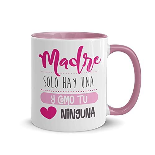 Kembilove Taza regalo día de la madre – Tazas Desayuno para Mamá con Mensaje Madre solo hay una y como tú ninguna – Tazas originales – Regalo para madres