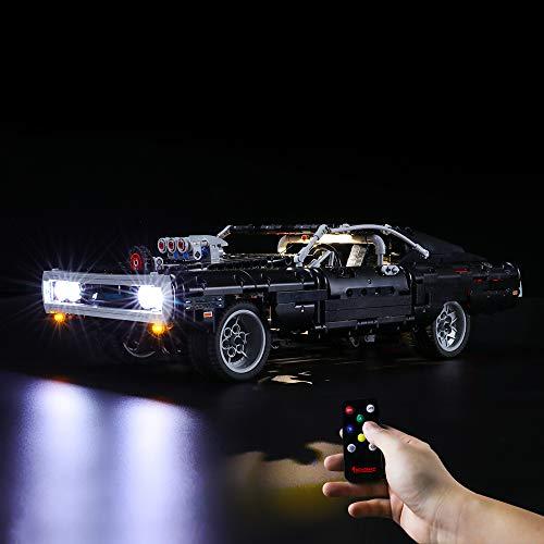 BRIKSMAX Led Beleuchtungsset für Dom's Dodge Charger,Kompatibel Mit Lego 42111 Bausteinen Modell -Ohne Lego Set