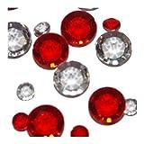 Like a Girl - wir lieben Hochzeiten Dekospass - Lote de 320 cristales para mesa (cristal), color rojo y transparente