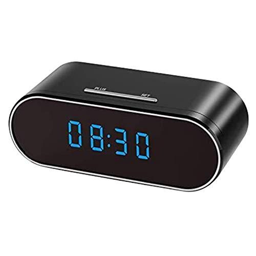 Reloj con cámara espía oculta, inalámbrico, cámara oculta HD 1080P Nanny WiFi, detección de movimiento con visión nocturna de 140 ángulos