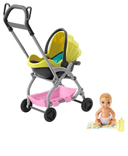 Barbie Skipper Babysitters Inc. Doll and Playset, Small Baby Doll...