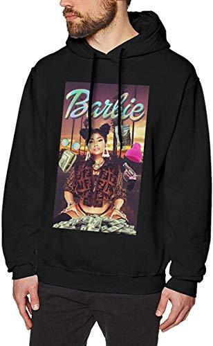 Ytdbh Herren Hoodie Kapuzenpullover, Men's Hoodie Pullover Nicki Good from- Minaj Hooded Sweatshirt Cotton Sweater Black