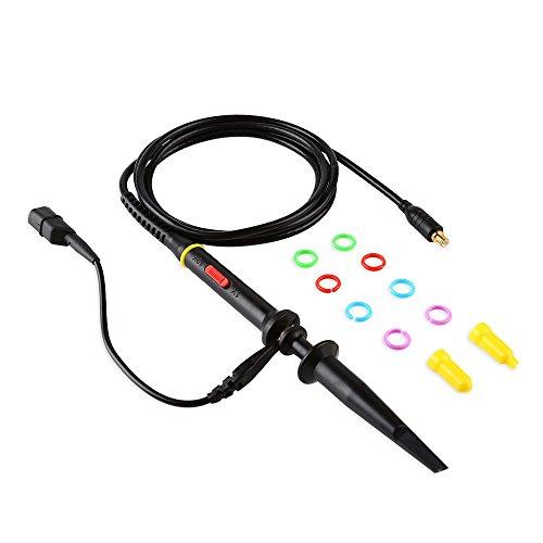 SainSmart Sonde für Digital Oszilloskop DSO211 DSO212 DSO213 Oszilloskop Tastkopf MCX-Sonde-x1-amp-x10 60 MHz Schwarz(1 St.)