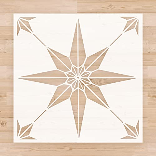 Reusable Tile Stencil 12 x 12 Inch Template for Painting Floor Cement Wall Furniture Wood DIY Home Décor Art Craft