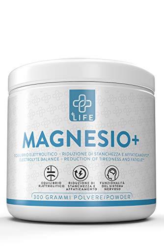 PIULIFE Magnesio+  430mg di Magnesio Per Dose  300g di Magnesio in Polvere  Aiuta la Memoria e Contrasta la Stanchezza  Magnesio Completo per Uomo e Donna