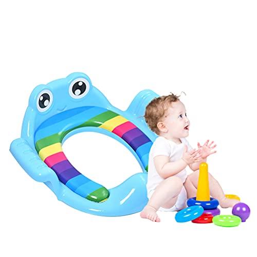 IWILCS Reductor Wc Niños, Adaptador wc portatil, Reductor WC Plegable, Olla para niños y niñas de 1 a 7 años - apto para niños y niñas(Azúl)