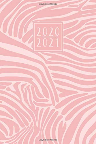 2020 - 2021: 18 Month Diary Weekly Planner Journal - Week to View on 2 Pages A5   Horizontal Layout   Pink Zebra Print Pattern (18 Month Diaries - 20 - 21)