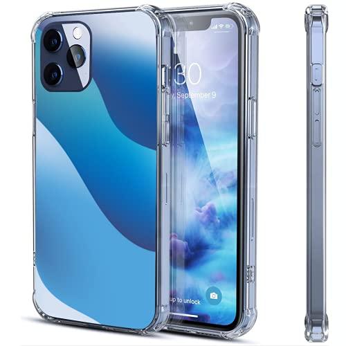 Carcasa transparente para iPhone 12 y 12 y iPhone 12 Pro a prueba de golpes, funda protectora de goma suave, dos tamaños