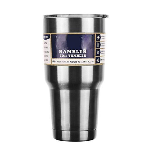 30OZ 900Ml roestvrijstalen fles Vacuüm autokop Koffie dubbellaags fles zilver