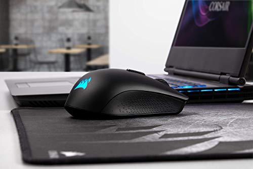 Corsair Harpoon Kabellose RGB Wiederaufladbare Optisch Gaming-Maus (mit SLIPSTREAM Technologie, 10.000DPI Optisch Sensor, RGB LED Hintergrundbeleuchtung) schwarz - 10