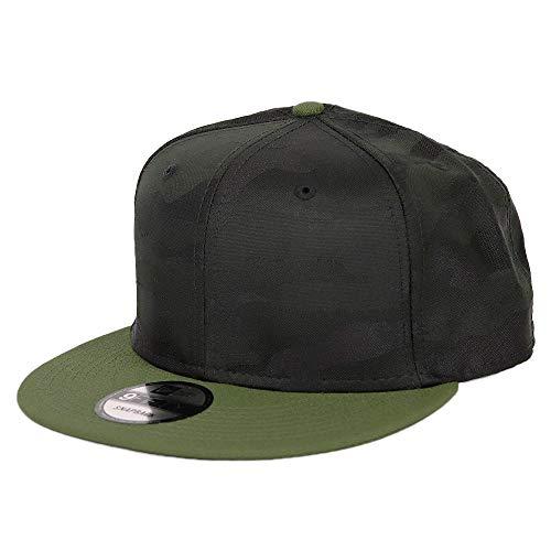 ニューエラ キャップ 無地 カモ 迷彩 メンズ 9FIFTY New Era 帽子 スナップバック ベースボールキャップ ブラック 黒 カーキ オリーブ [並行輸入品]