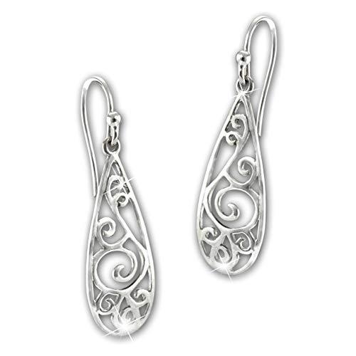 SilberDream Ohrringe Ohrhänger 925 Echt Silber Ornament Damen Schmuck SDO6718J Silber Ohrhänger