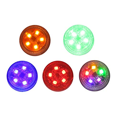 HAIHAOYF Luz de Puerta LED de 1 par de 1 par, Luces de Advertencia de Seguridad Anti-colisión Anti-Trampa Que Parpadea la luz de inducción con la lámpara de la señal de la batería (Color : Yellow)