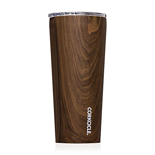 Corkcicle Origins Tumbler | Triple Insulated Stainless Steel Travel Cup with Shatterproof Lid, Walnut Wood, 16oz / 475ml