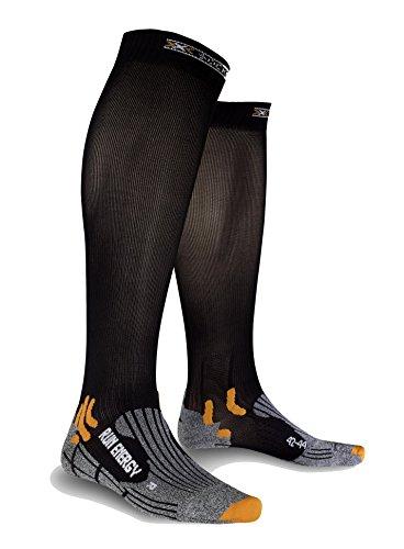 X-Socks Run Energizer Calze, Uomo, Nero, 42/44