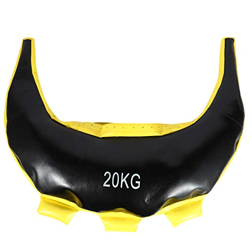 Fayme Bulgarian Power Bag - Sacco per sollevamento pesi, per allenamento con sabbia, colore: giallo