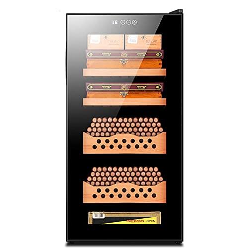 YANGHONG-Armoire à cigares- Control Cigar Humidor Cabinet debout debout Electronic Coin Cigare Humidor Étagères en bois amovibles LCD Température Température avec étagères et tiroirs en bois en cèdre