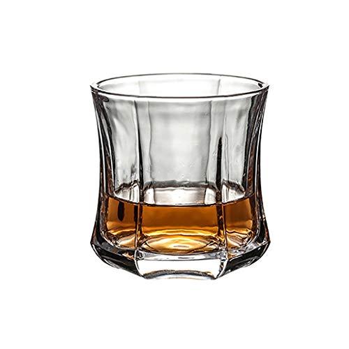 Mode Whisky Gläser, Kristallglas Vintage Whisky Carafe, Scotch Whisky, Bourbon, Cocktails, Rum, Saft, dauerhafte Whisky Gläser (Size : Hexagon B)