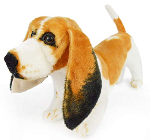 Bourguignon The Basset Hound - 16 Inch Large Dog Stuffed Animal Plush Dog - by Tiger Tale Toys
