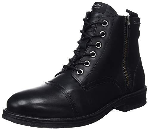 Pepe Jeans London Herren Tom-Cut MED Boot Klassische Stiefel, Schwarz (Black 999), 43 EU