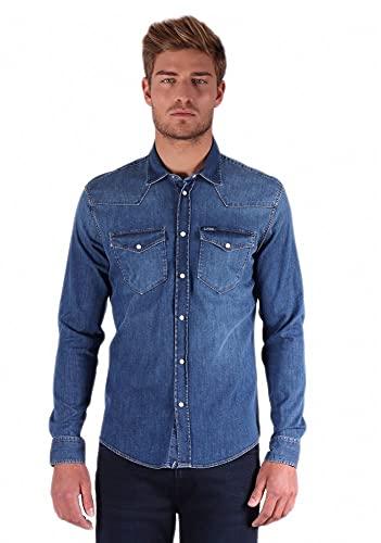 Chemise en Jean pour Homme - Modèle DIEGO - Couleur Bluejean - Taille XL