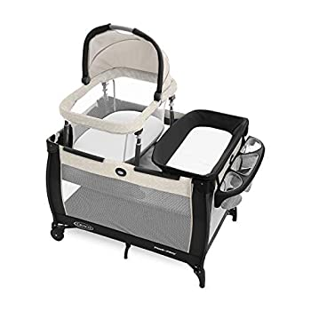 Graco Pack n Play Day2Dream Travel Bassinet Playard   Features Portable Bassinet Diaper Changer and More Lo Lo