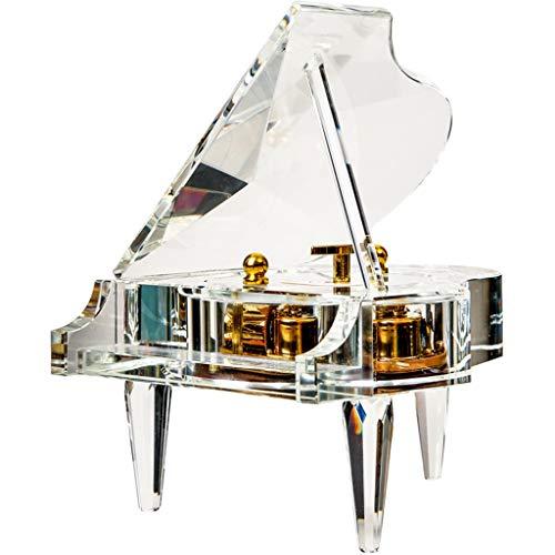 MQH Caja de música Caja de música de Piano Transparente Caja de música mecánica Caja Musical Cumpleaños for niños y Amigos Caja Musical