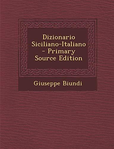 Dizionario Siciliano-Italiano