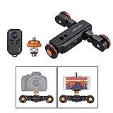 Andoer L4 PRO Video Kamera Slider Dolly Automatische mit Drahtlose Fernbedienung,1800mAh Akku 3 Geschwindigkeit einstellbar Mini Slider Skater für Canon Nikon DSLR-Kamera iOS Android