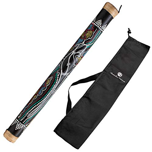 Australian Treasures - Baton de pluie 60cm painted incluant un sac en nylon pour rainstick