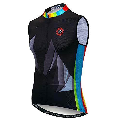 Ropa deportiva Camisetas de ciclismo de manga corta bicicleta ropa superior hombres MTB Jersey transpirable verano negro - - pecho 97/102 cm = etiqueta L