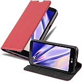 Cadorabo Coque pour LG X Screen en Rouge DE Pomme - Housse Protection avec Fermoire Magnétique,...