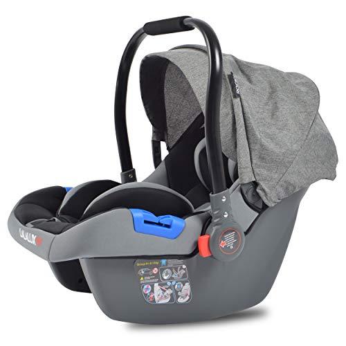 Lalalux Autositz, leichte Babyschale für Auto und Buggy, Shop'n'Drive-System-Option, sicherer Kindersitz fürs Baby, mit dem Kinderwagen kombinierbar, stabiler Baby Autositz für ein Travelsystem
