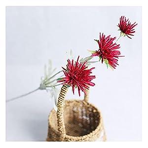 Silk Flower Arrangements Flowers Artificial for Indoor Outdoor,UV Resistant Shrubs Plants,5 pcs Simulation Silk Flower, Home Decoration Fake Flower-red