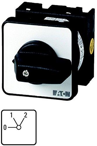 Eaton 074455 standenschakelaar voor verwarming, contacten: 2, 20 A, frontplaat: 0-2, 60 graden, 2 standen 60 graden, vergrendeld, centrale inbouw