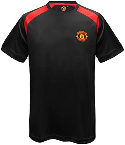 Manchester United FC Official Gift Mens Poly Training Kit T Shirt Black Small product image