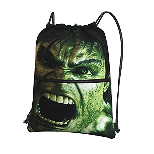 The Incr-Mochila comestible con cordón Hulk bolsa de gimnasio, bolsa de natación, impermeable, bolsa de baloncesto, deportes, gimnasio, con cremallera y bolsillos, bolsa de viaje, bolsa de playa