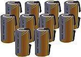 KIT 10 Batterie SC NI-CD 1,2V 2000mAh con Lamelle