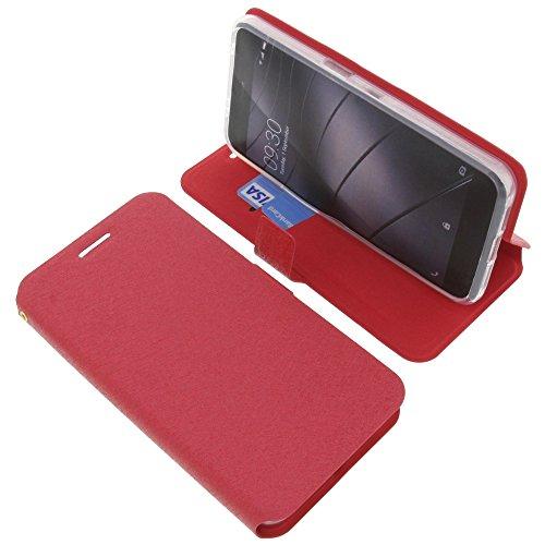 foto-kontor Tasche für Gigaset Me Pro Book Style rot Schutz Hülle Buch